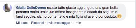 gianluca testa commento Giulia delle donne