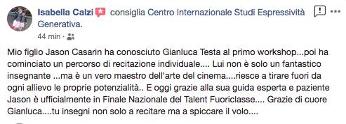 Gianluca Testa recensione espressività generativa isabella calzi